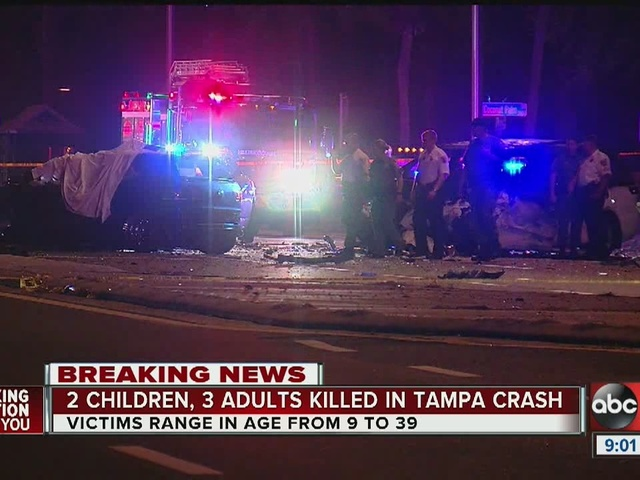Two children, three adults killed in Tampa crash on MLK