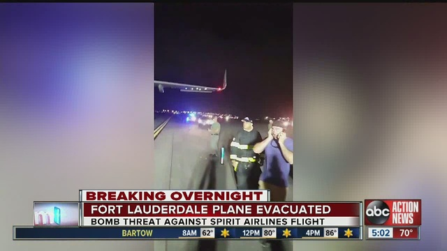 Spirit Airlines plane delayed after a bomb scare