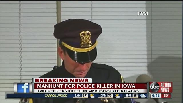 Police Officers Shot, Killed In Iowa Ambush
