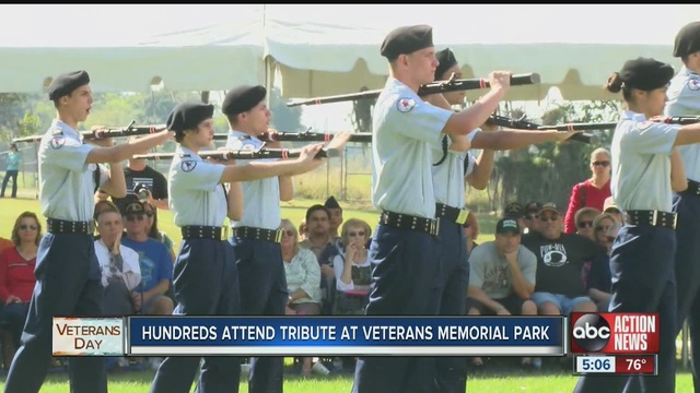 Veterans honored with parade on Franklin St.