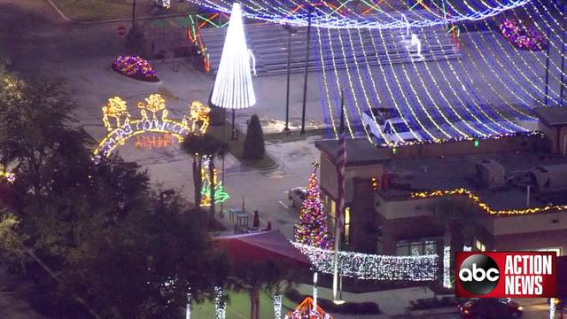 Chick-fil-A Christmas light display lights up the night ...