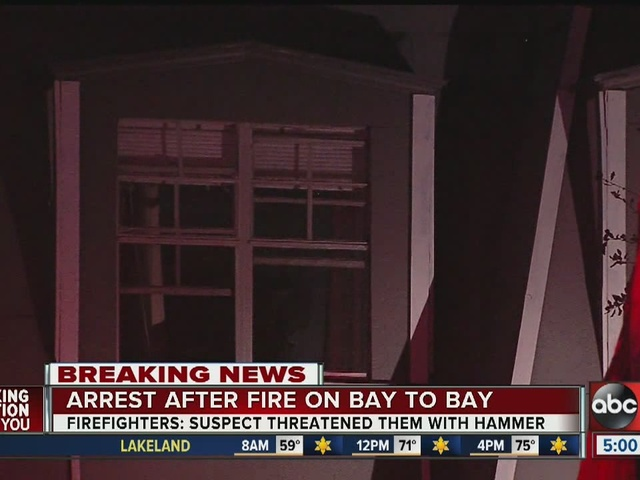 Arrest after fire on Bay to Bay