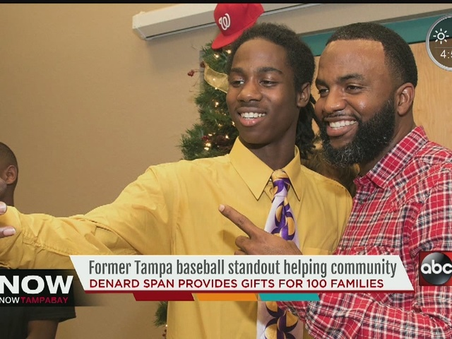 MLB player comes back to Tampa to help community