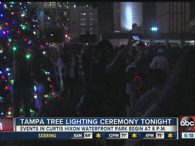 Tampa tree lighting ceremony Friday night, plus the forecast