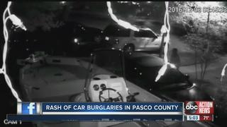 Deputies search for car break-in suspects