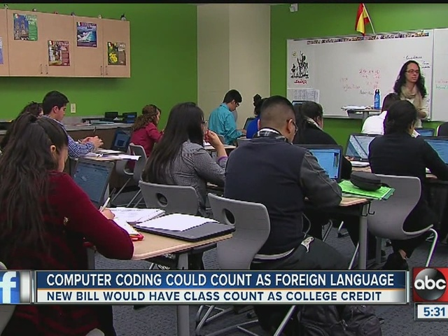 Computer coding could soon count as foreign language