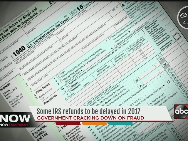 IRS refunds to be delayed for some taxpayers in 2017 - Fox 4 Now WFTX ...