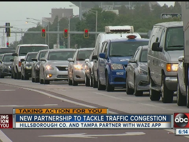 WAZE app to help ease Tampa area traffic congestion