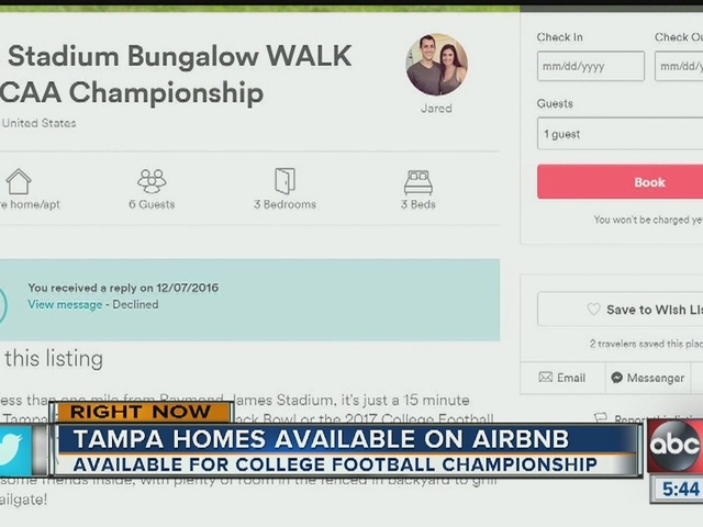 Airbnb hosts could be big winners of the College Football National…