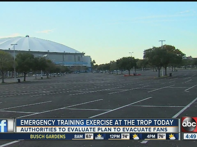 Emergency training exercise at the Trop today