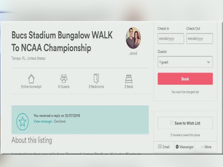 Airbnb has homes for College Championship game
