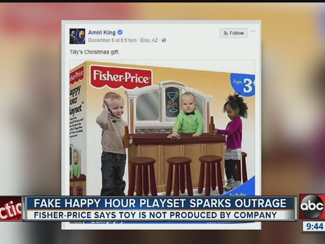 Fake 'Happy Hour Playset' sparks social media outrage, laughter