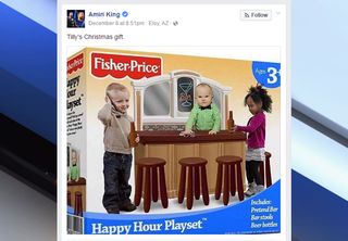 Social media reacts to fake 'happy hour playset'