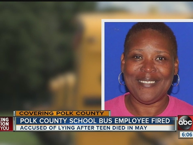 Polk school bus manager fired for cover-up following death