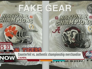 Sports agencies warn about fake merchandise