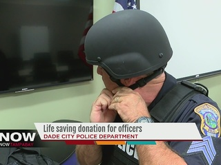 Generous donation protects officers in shootings