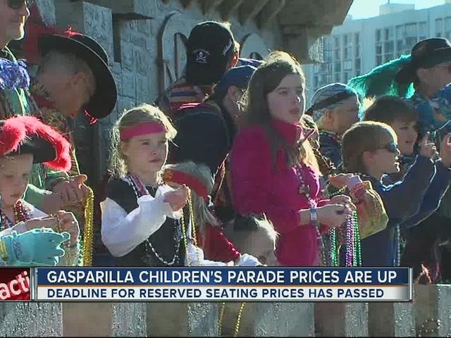 Gasparilla Children's Parade prices are up