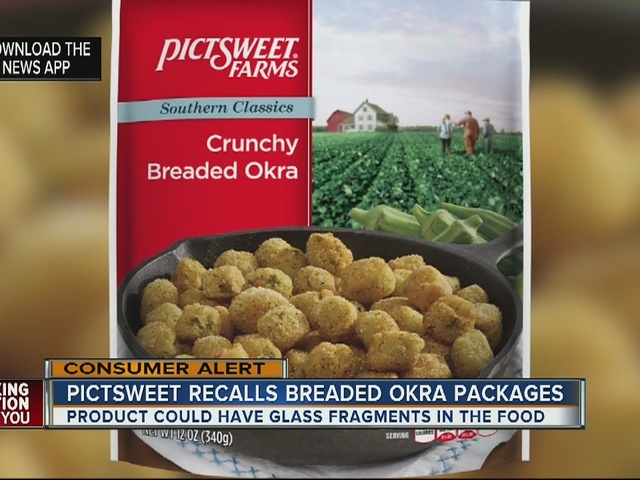 Pictsweet Farms recalls breaded okra for possible glass contamination