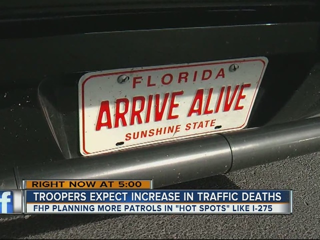 Troopers expect an increase in traffic deaths