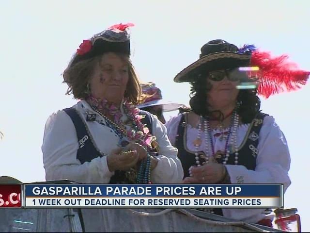 Gasparilla parade prices are up