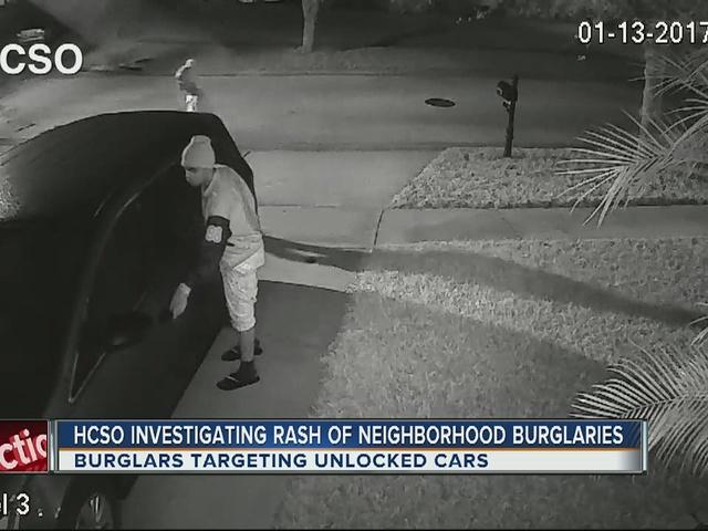 HCSO investigating rash of neighborhood burglaries