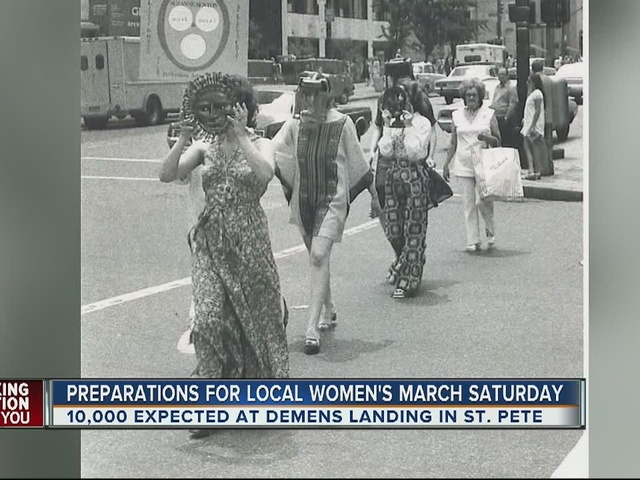 Preparations for local women's march on Saturday