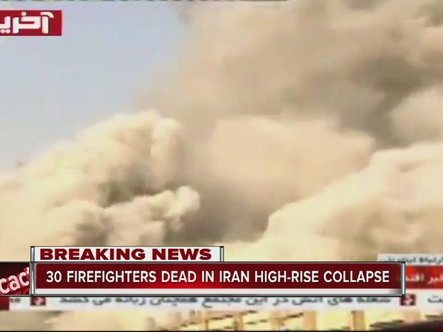 30 firefighters dead in Iran high-rise collapse