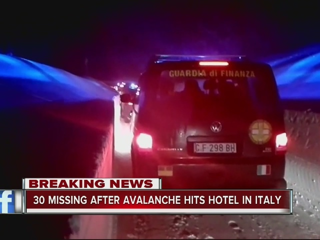 30 missing after avalanche hits hotel in Italy
