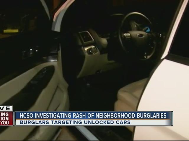 HCSO investigating rash of neighborhood burglaries in Riverview