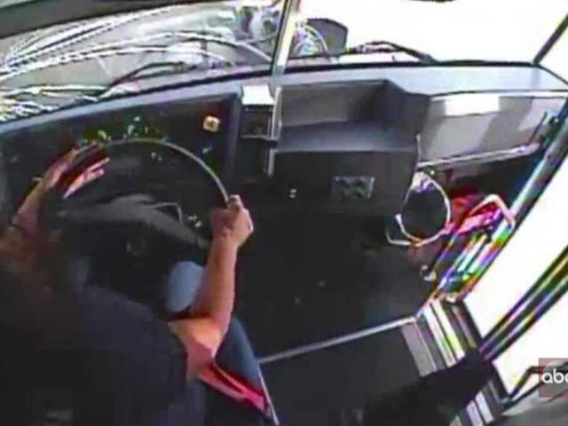 Video from inside the bus vs. semi-truck crash