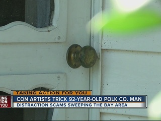 Thieves distract Polk man, steal valuables