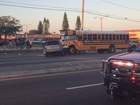 School bus, fire rescue truck part of collision