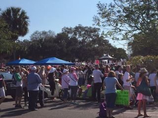 Crowds larger than organizers expected