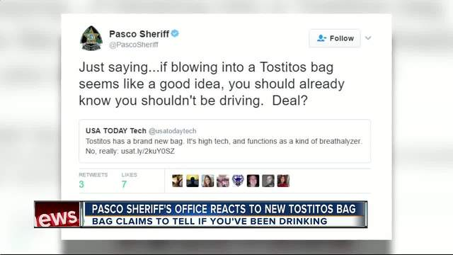 Pasco County Sheriff's Office rips Tostitos' breathalyzer ...