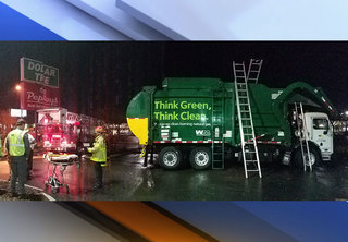 PHOTOS: Man resuced from garbage truck