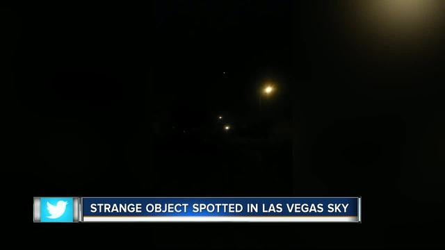 Las Vegas woman claims she saw UFO with legs coming out of it