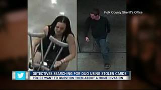 Detectives searching for duo using stolen cards