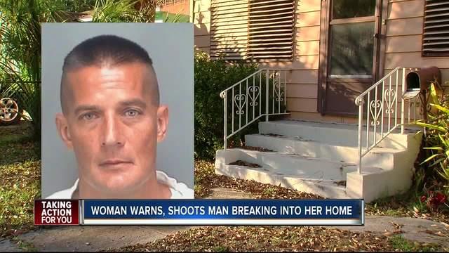 St- Pete woman shoots man climbing in window