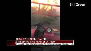 Volunteers help battle large Polk Co. brush fire