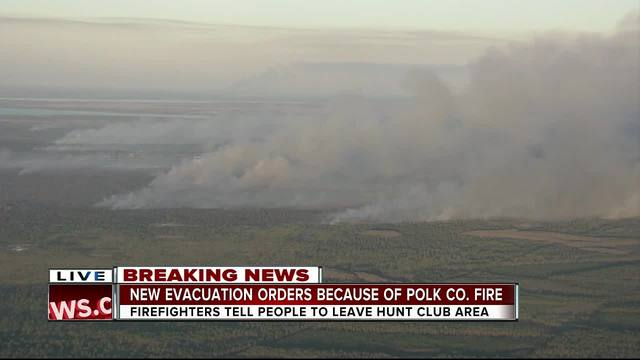 New evacuation orders because of Polk Co- brush fire