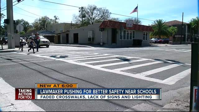 New bill could force state to fix crosswalks near Florida schools