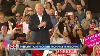President Trump in Melbourne