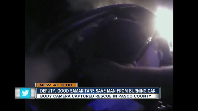 Body cam shows Deputy, good Samaritans save man from ...