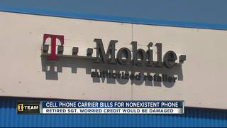 Cell phone carrier makes error to vet's account