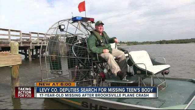 Levy Co- deputies search for missing teen-s body