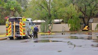 TECO, Hazmat crews repair gas leak