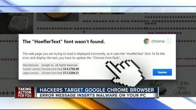 Hackers target Google Chrome browser