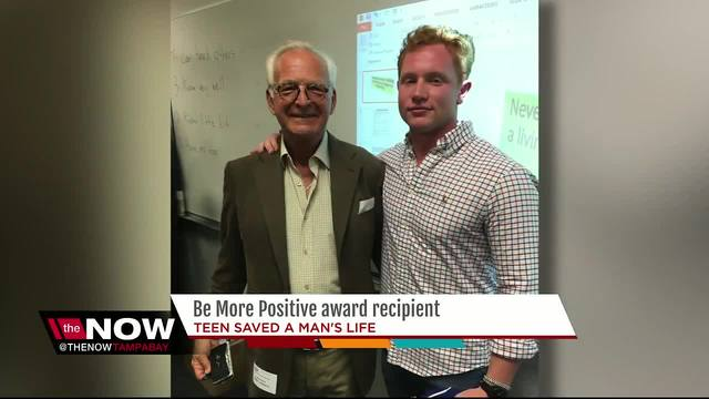 Young hero is this year-s Be More Positive award recipient after saving…