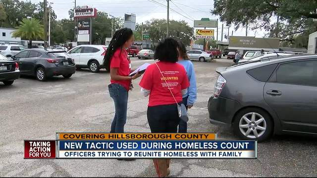 New tactic used during homeless count- officers try reuniting homeless…