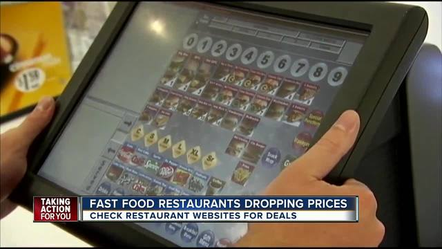 Fast food restaurants dropping prices